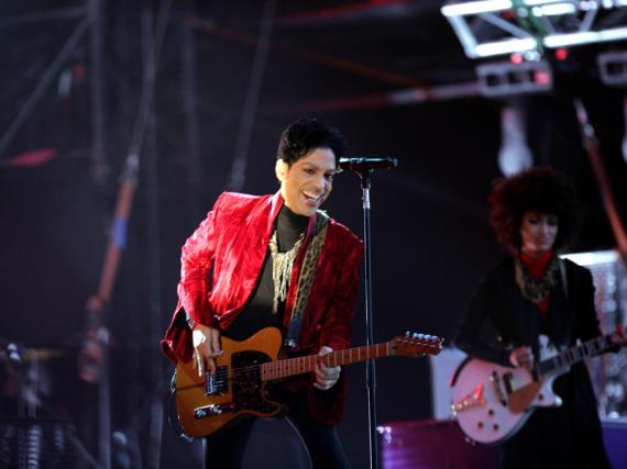 So liebte ihn die Welt: Prince bei einem Auftritt auf dem Sziget Festival im August 2011