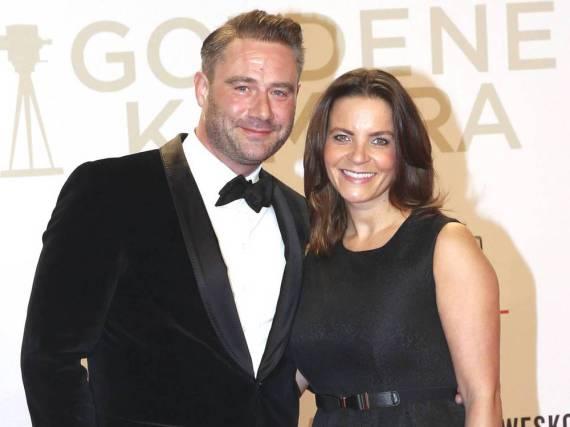 Sasha und seine Frau Julia Röntgen bei der Verleihung der Goldenen Kamera