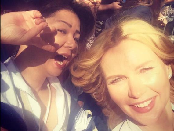 Veronica Ferres' Selfie auf dem TIFF