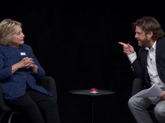 Hillary Clinton stellte sich den Fragen von Zach Galifianakis