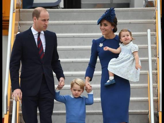 Die königliche Traumfamilie betrat am Samstag kanadischen Boden