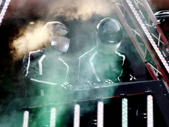 Ein seltenes Live-Vergnügen: Daft Punk im Oktober 2010 bei der