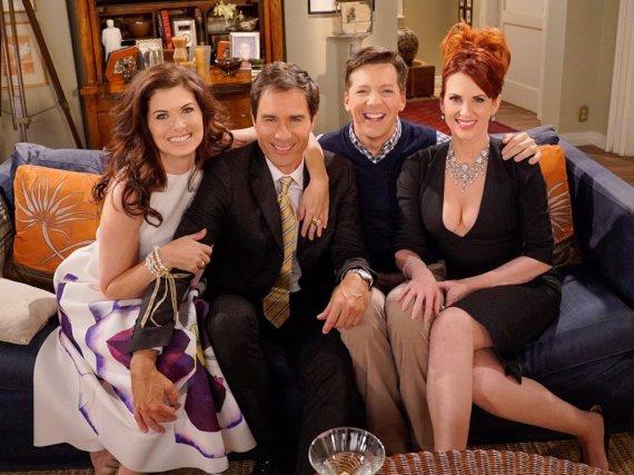 Sitcom-Stars im Wiedersehensmodus: Debra Messing, Eric McCormack, Sean Hayes und Megan Mullally (v.l.n.r.)