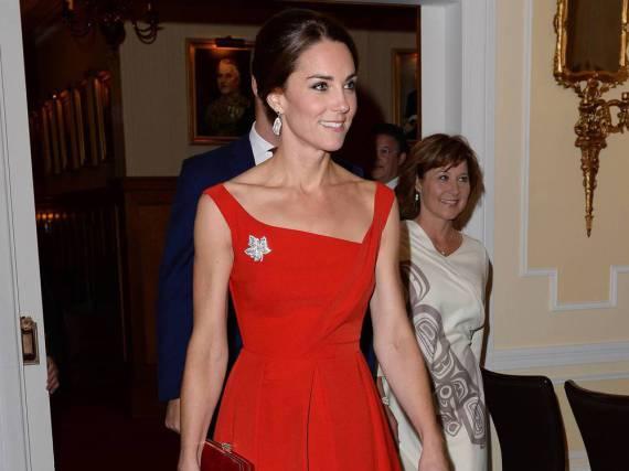 Herzogin Kate beim abendlichen Empfang im Government House, British Columbia