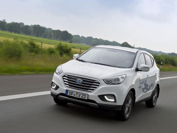 Hier fährt die Zukunft: Hyundai ix35 Fuel Cell