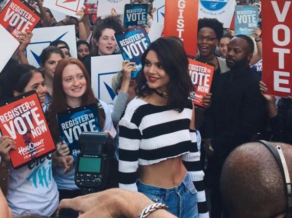 Kendall Jenner macht Werbung für die US-Wahl
