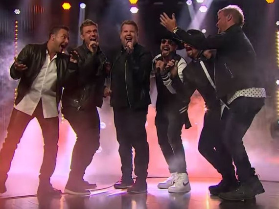 James Corden performte mit den Backstreet Boys in seiner Show