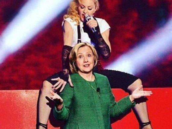 Madonna steht auf Hillary Clinton