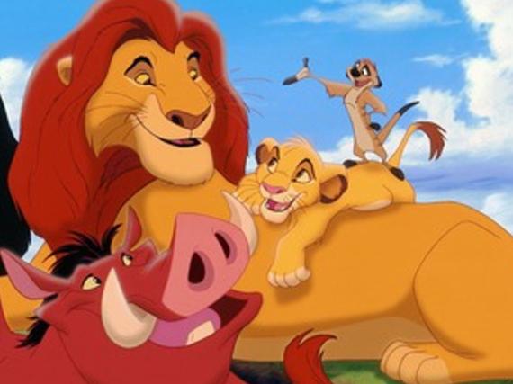 Simba, Pumbaa und Timon aus