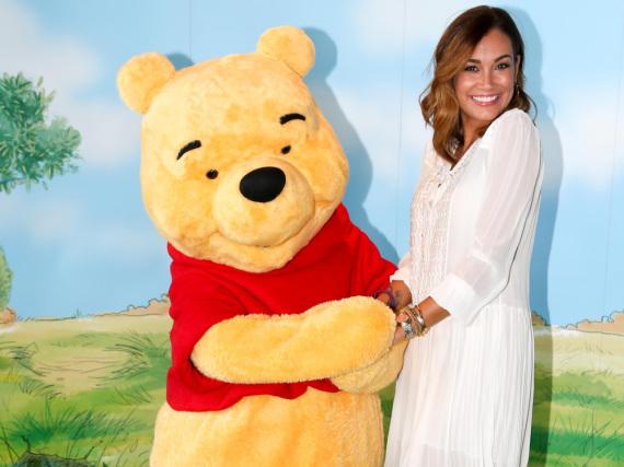Jana Ina Zarrella drufte Winnie beim Puuh Disney Baby Breakfast