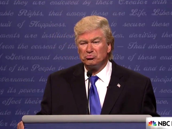 Perfekt getroffen: Alex Baldwin als Donald Trump