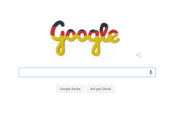 Mit diesem Doodle feiert Google den Tag der Deutschen Einheit