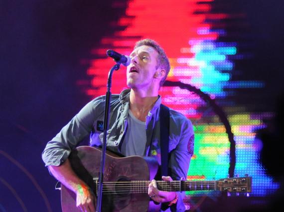 Coldplay-Sänger Chris Martin bei einem Auftritt in Brasilien
