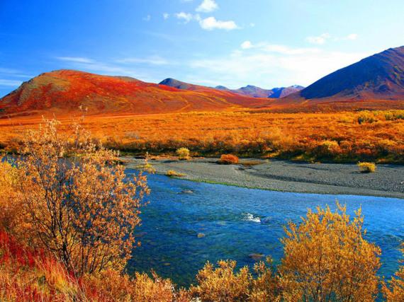Traumhafte Naturimpression auf Banks Island in den Northern Territories