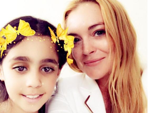 Folgendes schrieb Lindsay Lohan zum Bild mit Heya: