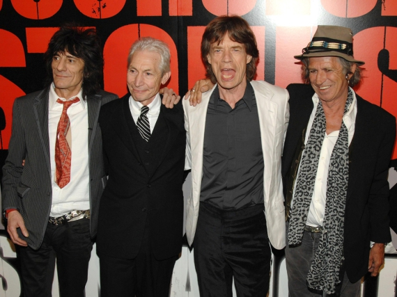 The Rolling Stones (v.l.n.r.): Ron Wood, Charlie Watts, Mick Jagger und Keith Richards