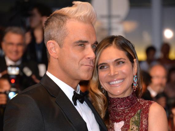 Es geht doch auch nüchtern: Robbie Williams und seine Frau Ayda beim Filmfest in Cannes
