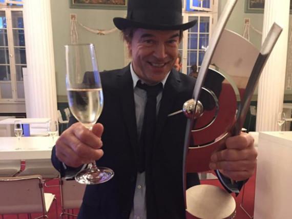 Zeigte sich sichtlich erfreut über seine Auszeichnung: Campino von den Toten Hosen
