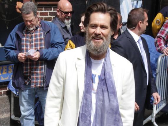Jim Carrey im Mai 2015 auf dem Weg zur
