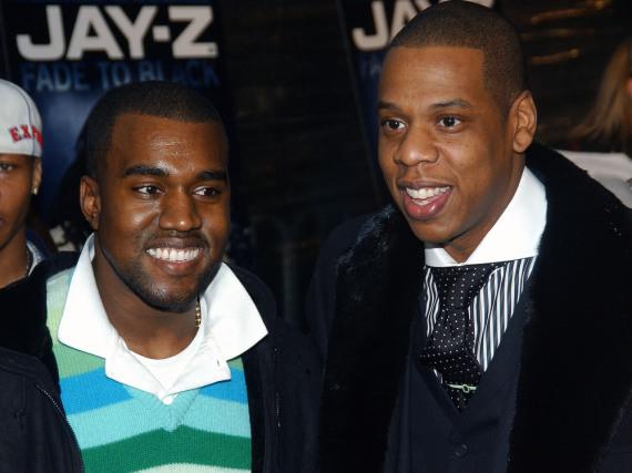 Kanye West (l.) und Jay Z haben allen Grund zu lachen