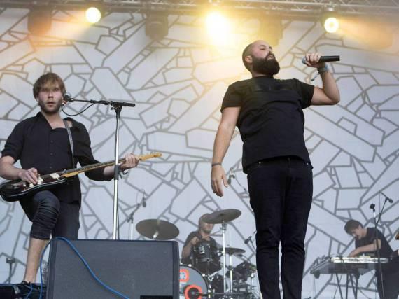 Frittenbude während eines Konzerts in Hamburg
