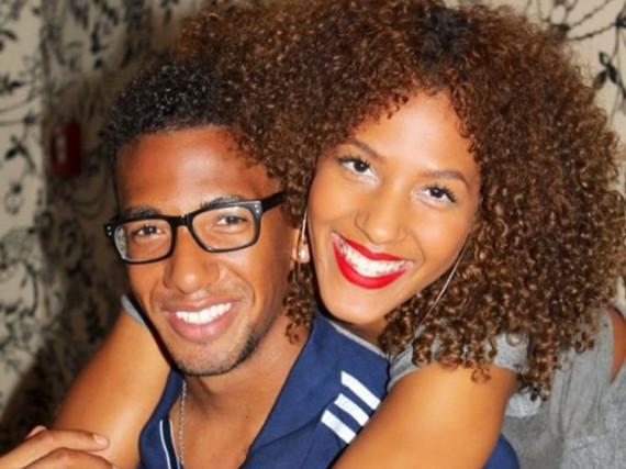 Jérôme Boateng mit seiner Halbschwester Avelina