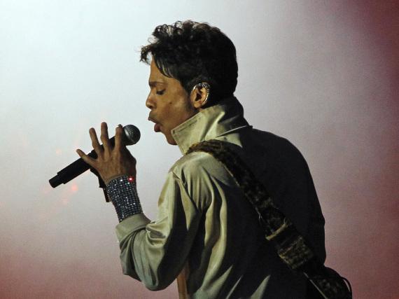 Musiker Prince während eines Auftritts 2011 in Kent