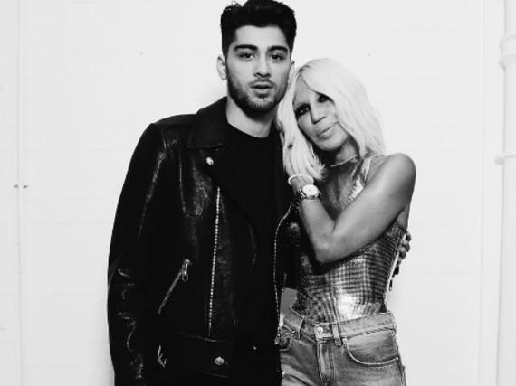 Möchtergern-Rebell trifft Modegröße: Zayn Malik mit Donatella Versace
