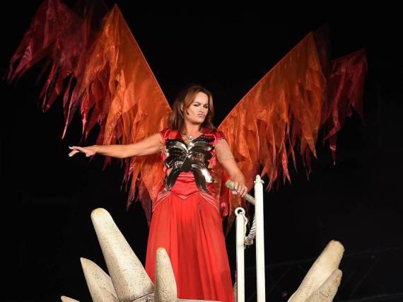 Andrea Berg bei ihrem Auftritt in Krefeld