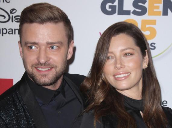 Jessica Biel und Ehemann Justin Timberlake während eines Events in Beverly Hills im Oktober 2015