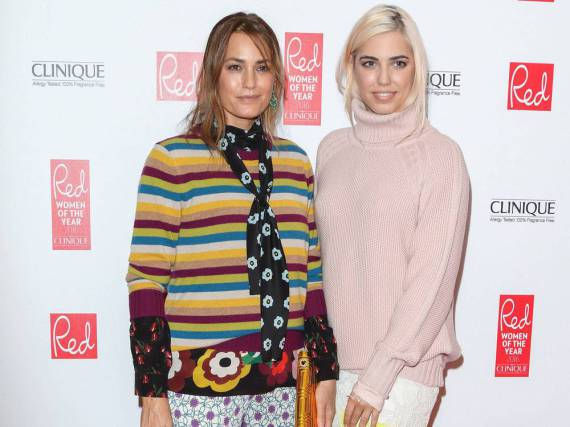 Yasmin Le Bon (l.) und ihre Tochter Amber Le Bon bei den Red Women of the Year Awards am Dienstag in London