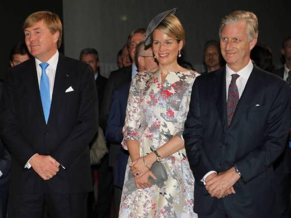 Eröffnung der Frankfurter Buchmesse (v.l) mit König Willem-Alexander der Niederlande sowie Königin Mathilde und König Philippe von Belgien