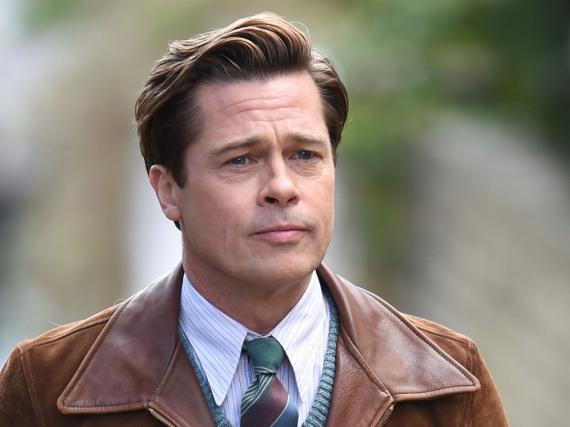 Brad Pitt am Filmset von