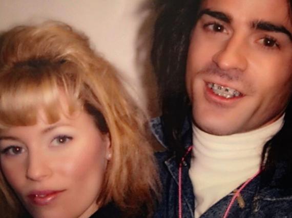 Justin Theroux und Schauspielkollegin Elizabeth Banks im 80er-Look