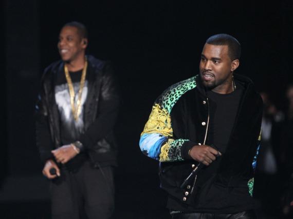 2011 gaben Jay Z (links) und Kanye West noch beste Kumpels, jetzt haben sie angeblich Streit