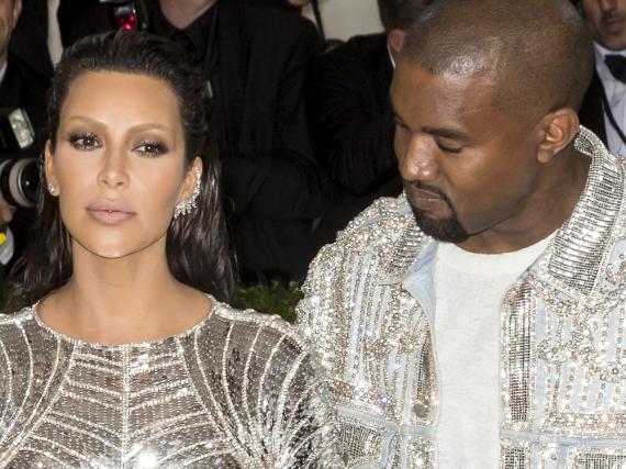 Kim Kardashian und Kanye West bei einer Veranstaltung in New York