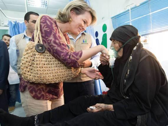 Königin Mathilde von Belgien besucht ein Flüchtlingslager in Jordanien