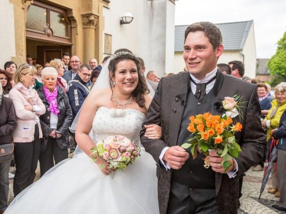 Guy und Victoria bei ihrer Hochzeit in Luxemburg