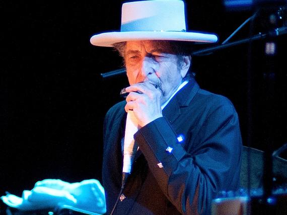 Bob Dylan bei einem Auftritt in Spanien