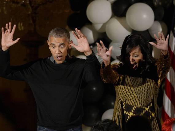 Michelle und Barack Obama bei ihrer