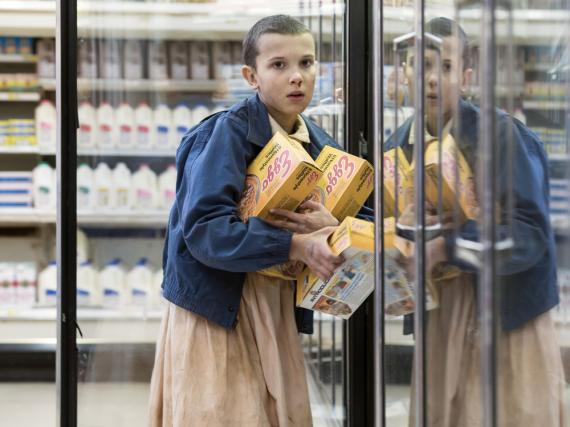 Millie Bobby Brown alias Eleven/Elfie in der ersten Staffel von