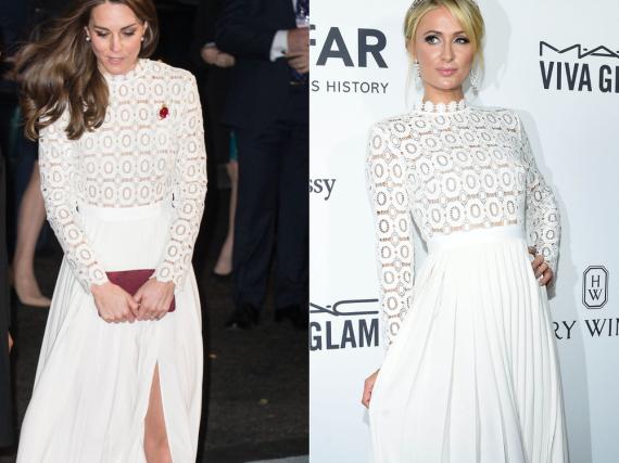 Herzogin Kate und Paris Hilton setzen auf das gleiche Kleid