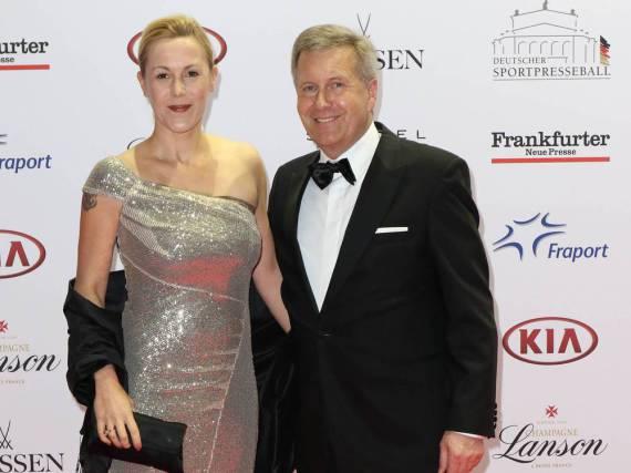 So schick: Bettina und Christian Wulff beim Sportpresseball 2016