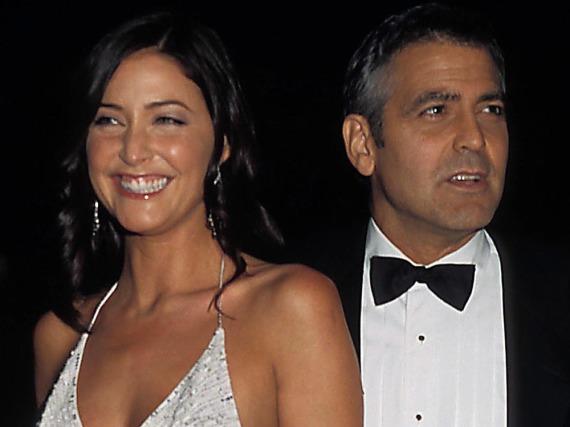 Lisa Snowdon und George Clooney bei der Premiere von