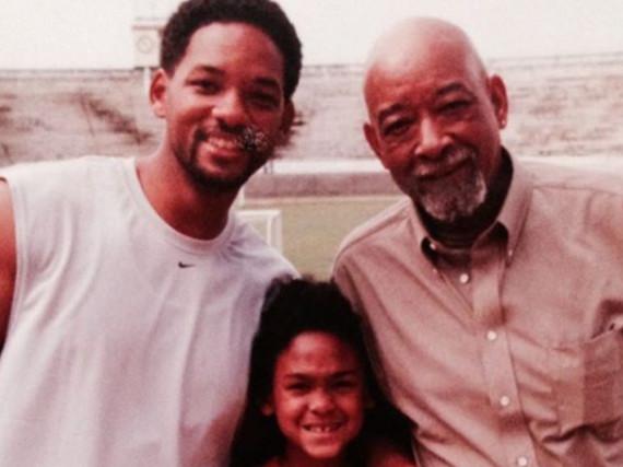 Drei Generationen: Will Smith (li.) mit seinem Sohn Trey und seinem Vater