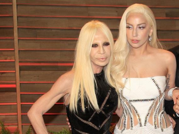 Donatella Versace und Lady Gaga auf der Oscar-Party der
