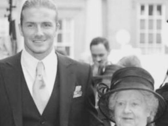 David Beckham mit seiner Oma
