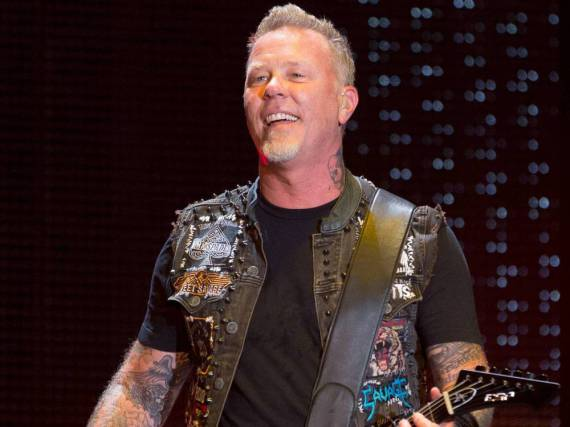 James Hetfield bei einem Auftritt seiner Band Metallica in Minneapolis im August 2016