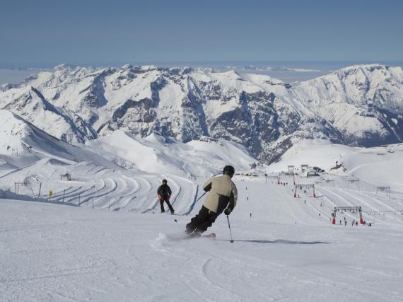 In Les Deux Alpes macht Skifahren richtig Spaß