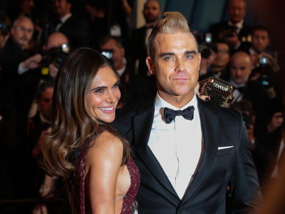 Robbie Williams und seine Frau Ayda Field auf der
